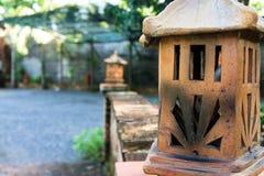 Традиционная лампа, ручной работы керамическая глина, ремесленничества Вьетнама Стоковые Фотографии RF