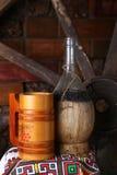 Традиционная бутылка вина Стоковые Изображения