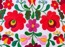 Традиционная венгерская вышивка Стоковое Изображение