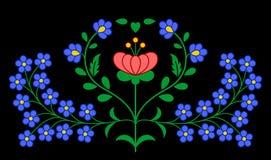 Традиционная венгерская фольклорная картина вышивки Стоковое Фото