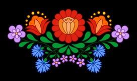 Традиционная венгерская фольклорная картина вышивки Стоковые Изображения RF