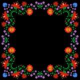 Традиционная венгерская фольклорная картина вышивки Стоковое фото RF