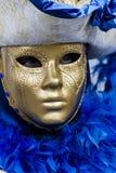Традиционная венецианская маска масленицы Стоковое Изображение RF