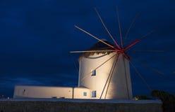 Традиционная ветрянка на Mykonos Стоковое Изображение RF