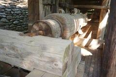 Традиционная вод-мельница тимберса стоковые изображения