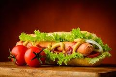 Традиционная горячая сосиска Стоковое Изображение RF