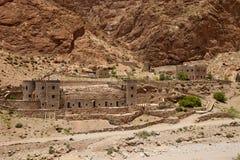 Традиционная гостиница в ущелье Todra, Марокко Стоковые Фотографии RF