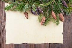 Традиционная граница рождества Стоковое фото RF