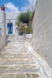 Традиционная греческая архитектура на островах Кикладов Стоковое Изображение RF