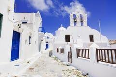 Традиционная греческая деревня в острове Amorgos, Греции Стоковое Изображение RF