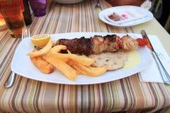 Традиционная греческая еда Стоковая Фотография RF