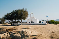 Традиционная греческая церковь на острове Naxos, Греции Стоковая Фотография RF