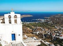 Традиционная греческая церковь Стоковая Фотография