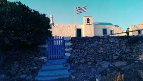 Традиционная греческая церковь Стоковая Фотография RF