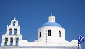 Традиционная греческая церковь Стоковое фото RF