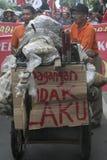 Традиционная демонстрация Soekarno Sukoharjo торговцев рынка Стоковые Изображения RF