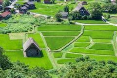 Традиционная деревня в Японии Стоковое Изображение RF