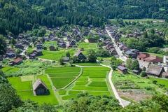 Традиционная деревня в Японии Стоковые Фотографии RF