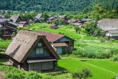 Традиционная деревня в Японии Стоковая Фотография RF