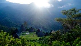 Традиционная деревня племени в Flores, Wae Rebo Стоковое фото RF