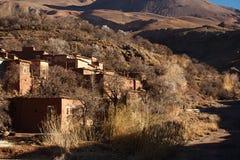 Традиционная деревня berbers в высоком атласе Стоковые Изображения RF