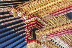 Традиционная деревянная картина в Индонезии Стоковая Фотография RF
