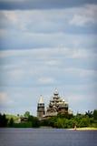 Традиционная деревянная русская церковь на острове Kizhi Стоковое фото RF
