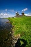 Традиционная деревянная русская церковь на острове Kizhi Стоковые Изображения RF