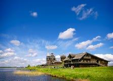 Традиционная деревянная русская церковь на острове Kizhi Стоковое Изображение