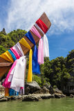 Традиционная деревянная шлюпка, Таиланд Стоковые Изображения RF