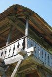Традиционная деталь работы тимберса на сельском доме стоковое фото
