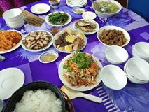 Традиционная еда Азии Стоковое Изображение RF