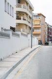 Традиционная испанская улица городка Стоковая Фотография RF