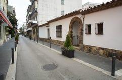 Традиционная испанская улица городка Стоковая Фотография