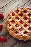 Традиционная испеченная еда печенья торта пирога клубники сладостная Стоковое Фото