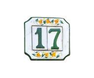 Традиционная итальянская домашняя доска знака покрашенная на керамической плитке Стоковые Изображения