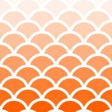 Традиционная картина волны Seigaiha японская безшовная оранжевая Бесплатная Иллюстрация