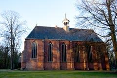 Традиционная католическая церковь где-то в Нидерландах Стоковое фото RF