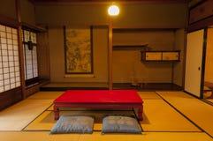 Традиционная комната дома периода Эдо японца на Киото Стоковое фото RF