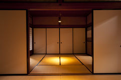 Традиционная комната дома периода Эдо японца на Киото Стоковое Изображение