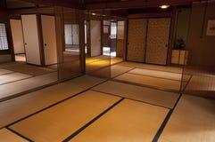 Традиционная комната дома периода Эдо японца на Киото Стоковые Изображения RF