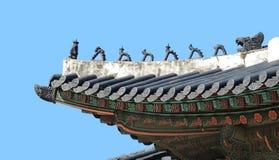 Традиционная корейская крыша стоковые изображения rf