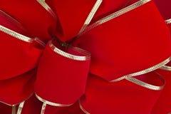 Традиционная красная лента рождества Стоковое Изображение RF
