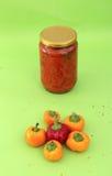 Традиционная македонская еда Lutenitza в опарнике Домодельный продукт Стоковые Фото