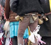 Традиционная масленица маск по случаю правоверного праздника Prochka прощения в городе Prilep, македонии Стоковые Изображения RF