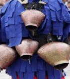 Традиционная масленица маск по случаю правоверного праздника Prochka прощения в городе Prilep, македонии Стоковое Изображение