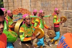 Традиционная музыка на гонке Madura Bull, Индонезии Стоковое фото RF