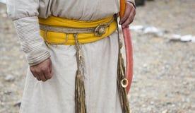 Традиционная одежда monglian лучника стоковое фото rf