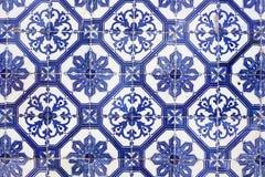 Традиционная португальская плитка (azulejos), Лиссабон, Европа Стоковое Изображение