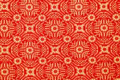 Традиционная картина саронга батика Стоковое фото RF